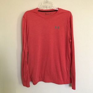 Under Armour red long sleeve crewneck